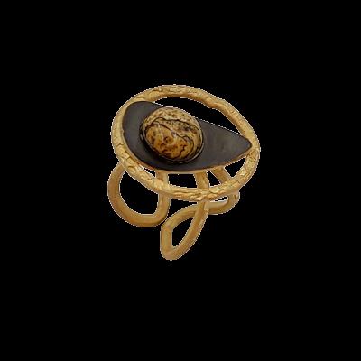Χειροποίητο δαχτυλίδι επιχρυσωμένο
